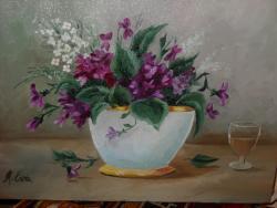Picturi cu flori viorele 4