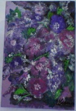 Picturi cu flori flori pe ram