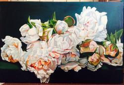 Picturi cu flori pioni