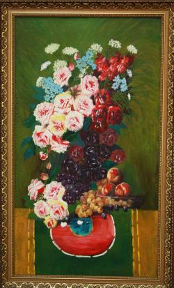 Picturi cu flori Frlori si struguri