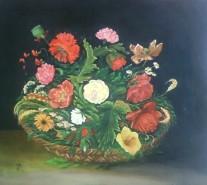 Picturi cu flori Cos flori