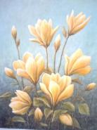 Picturi cu flori Magnolii galbene