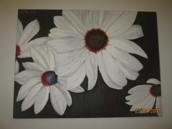 Picturi cu flori Petale de margarete