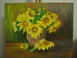 Picturi cu flori Soare in petale