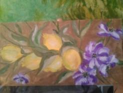 Picturi cu flori Flori si lamai