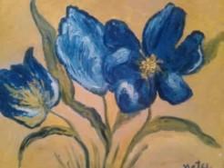 Picturi cu flori Lalele albastre