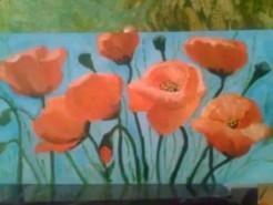 Picturi cu flori Maci de camp