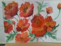 Picturi cu flori Multe flori rosii