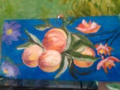 Picturi cu flori Piersici si flori