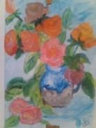 Picturi cu flori Trandafiri multicolori