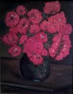 Picturi cu flori Vas cu garoafe