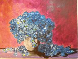 Picturi cu flori Albastrele flori daruite cu drag