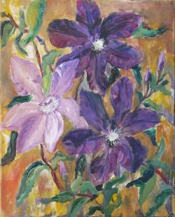 Picturi cu flori Clematite