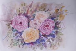 Picturi cu flori Momente trandafirii