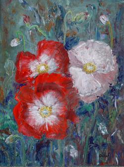 Picturi cu flori Poem cu maci