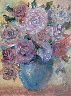 Picturi cu flori Trandafiri ispititori