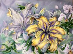 Picturi cu flori Ecou floral