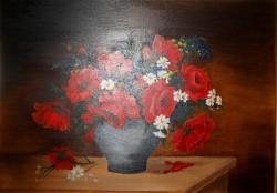 Picturi cu flori maci aprinsi