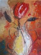 Picturi cu flori Floare rosie