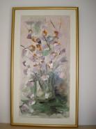 Picturi cu flori Flori abstracte