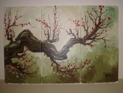 Picturi cu flori Flori de cires