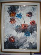 Picturi cu flori Flori de gheata