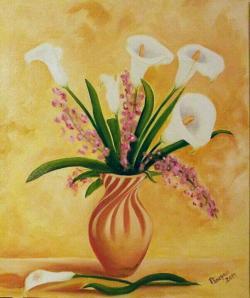 Picturi cu flori le calle bianche