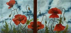 Picturi cu flori Cer si maci
