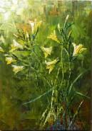 Picturi cu flori Crini galbeni