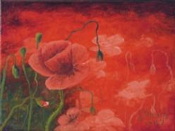 Picturi cu flori Mare de rosu