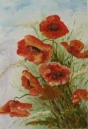 Picturi cu flori O mana de maci