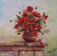 Picturi cu flori Vaza cu maci 1
