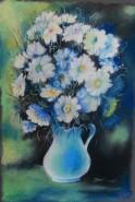 Picturi cu flori Flori pe albastru