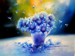 Picturi cu flori albastrele 2016