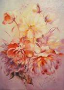 Picturi cu flori Bujori ii