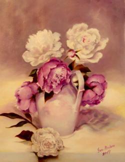 Picturi cu flori delicate 2017