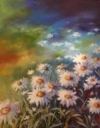 Picturi cu flori Fantezie albastra