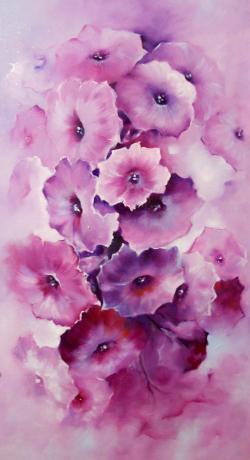 Picturi cu flori fantezie florala 2016