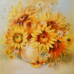 Picturi cu flori fantezie florala 2 2014