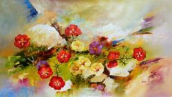 Picturi cu flori Flori de piatra