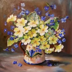 Picturi cu flori flori galbene in ulcica