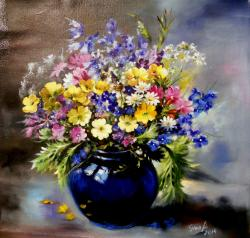 Picturi cu flori harmony in blue
