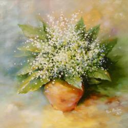 Picturi cu flori margaritare