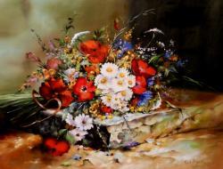 Picturi cu flori primavara in culori