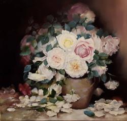 Picturi cu flori roses 2017