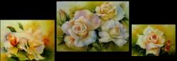 Picturi cu flori Trandafiri albi - terminat