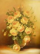 Picturi cu flori Trandafiri galbeni