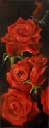Picturi cu flori Trandafiri rosii