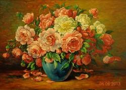 Picturi cu flori flori, vaza, 1