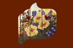 Picturi cu flori gradina inflorita
